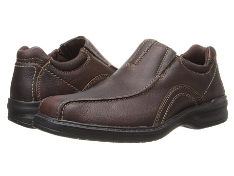 Clarks - Sherwin Time (Brown Tumbled Leather) Men's Shoes