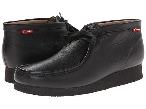 Clarks - Stinson Hi (Black Oily Leather) Men's Lace-up Boots
