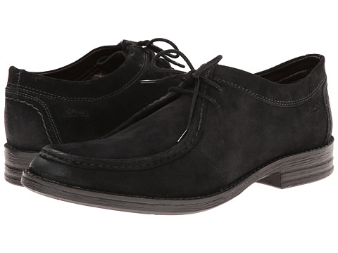 Clarks - Delsin Rise (Black Leather) Men's Shoes