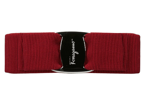 Salvatore Ferragamo - Fer Vara PLD (Rosso/Palladium) Hair Accessories