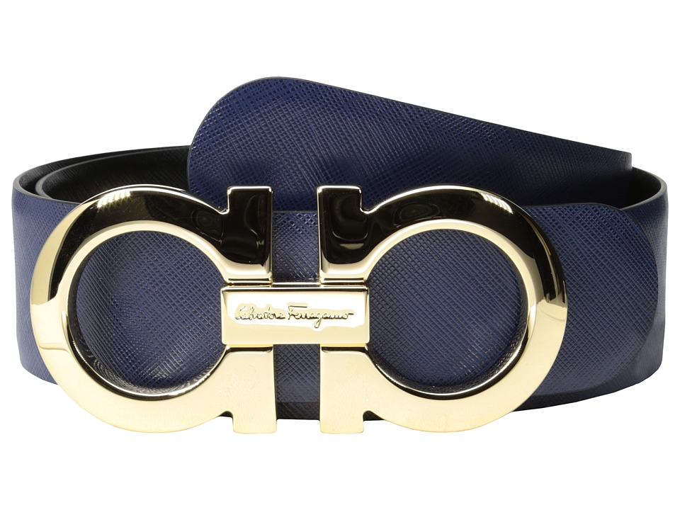 Salvatore Ferragamo - 237601 (Oxford Blue Nero) Women's Belts