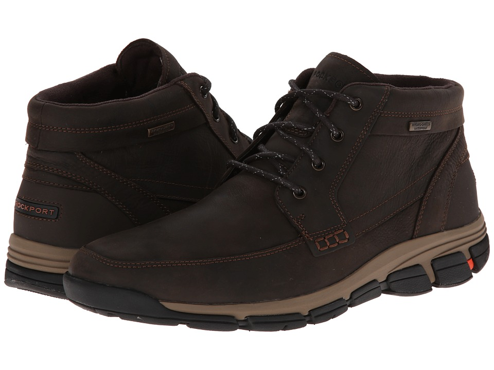 Rockport Rocsports Lite Es Waterproof Mocc Toe Mudguard Boot (Dark Brown) Men