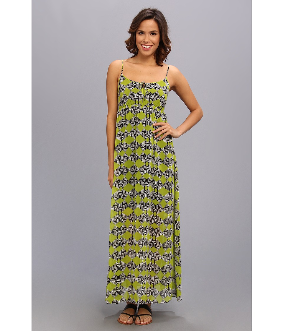 TWO by Vince Camuto - S/L Tribal Maze Maxi Dress (Rich Black) Women's Dress