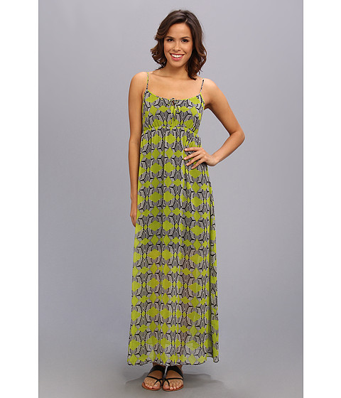 TWO by Vince Camuto - S/L Tribal Maze Maxi Dress (Rich Black) Women