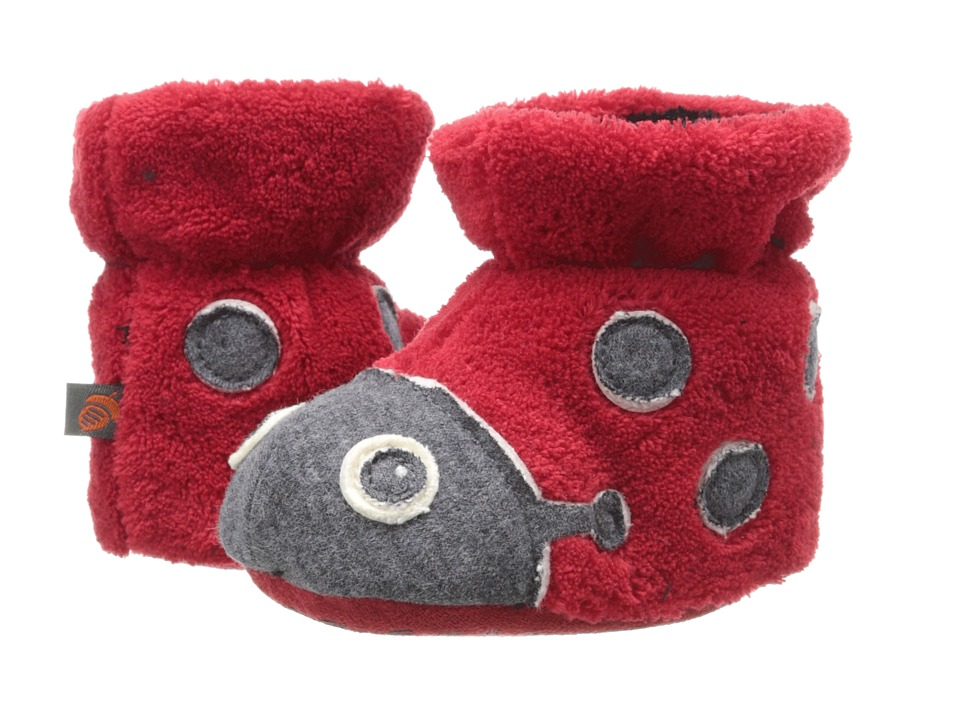 Acorn Kids - Easy Critter Bootie (Infant/Toddler) (Ladybug) Girls Shoes