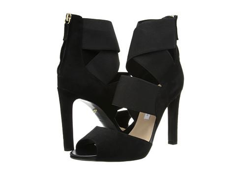 Diane von Furstenberg - Juliesa (Black Suede/Black Elastic) High Heels