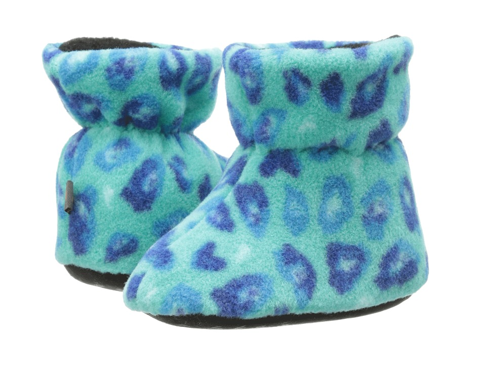 Acorn Kids - Easy Bootie (Infant/Toddler) (Turquoise Leopard) Boys Shoes