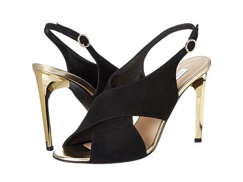 Diane von Furstenberg - Vick (Black Suede) Women's Sling Back Shoes