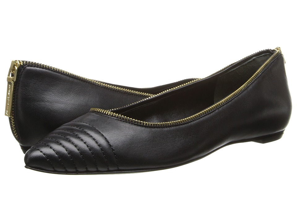 Pierre Balmain - Nappa Leather Ballet Flat With Leather Accent (Black) Women's Ballet Shoes