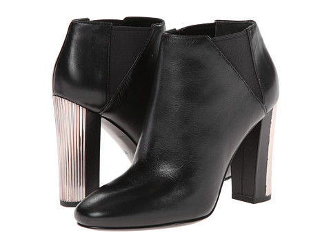 Pierre Balmain - Leather Ankle Bootie With Metal Heel (Black) Women