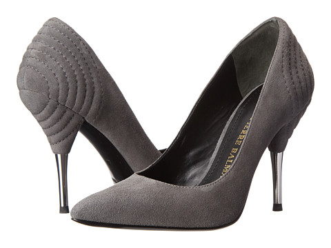 Pierre Balmain - Suede Pointed - Toe Pump With Metal Heel (Grey) Women's Shoes