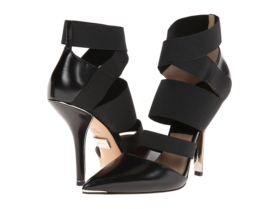 Michael Kors - Alexa (Black Smooth Calf/Elastic) High Heels