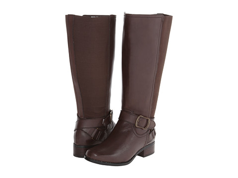Fitzwell - Mentor Extra Wide Calf (Brown Burnished Leather) Women's Zip Boots