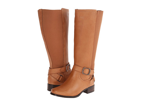 Fitzwell - Mentor Wide Calf (Camel Burnished Leather) Women