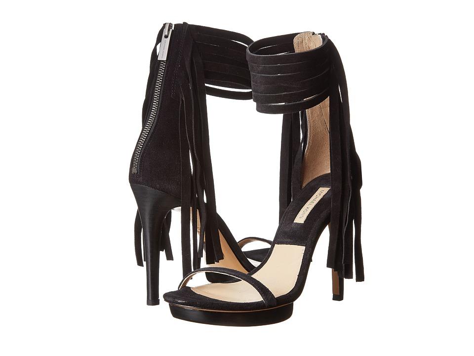 Michael Kors Daphne (Black Sport Suede) High Heels