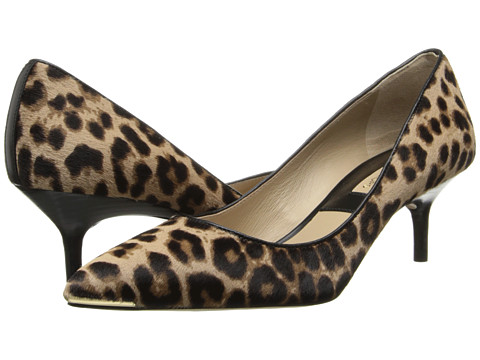 Michael Kors - Trisha (TN LG Leo HC Large Leopard Haircalf/Smooth Calf) Women's 1-2 inch heel Shoes