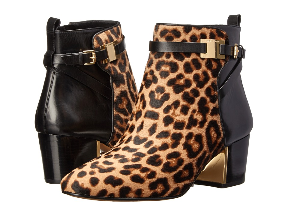 Michael Kors - Yves (TN LG Leo HC Large Leopard Haircalf/Smooth Calf) Women's Zip Boots