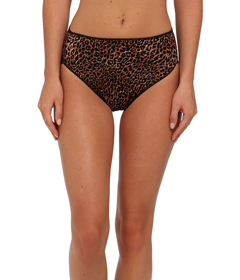 TC Fine Intimates - TC Edge Microfiber Hi-Cut Brief A404 (Leopard) Women