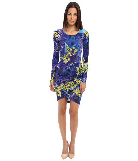Versace Jeans - Printed Jersey Dress (Blue) Women's Dress
