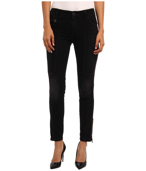 Pierre Balmain - Skinny Jean With Zipper Accents (Black) Women's Jeans