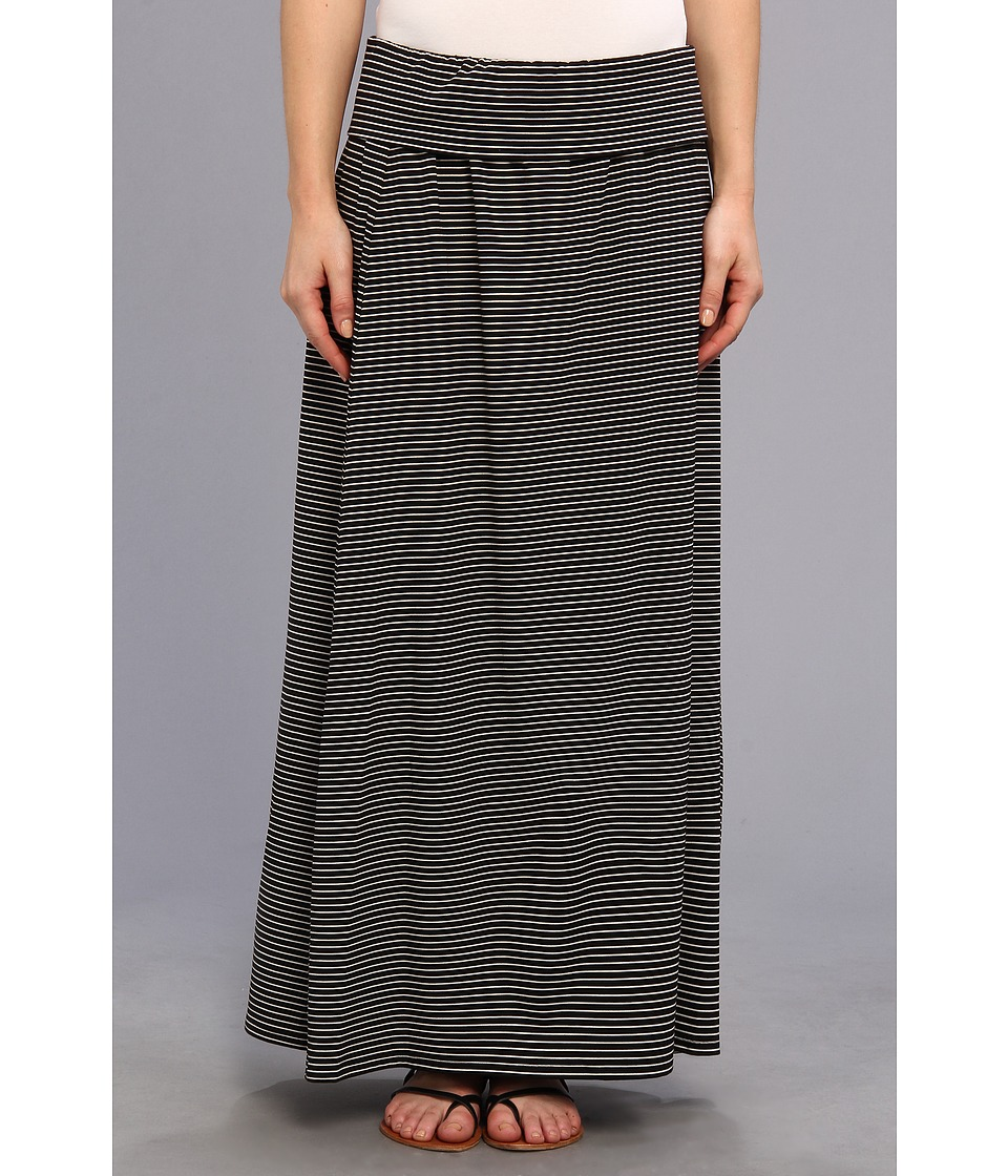 TWO by Vince Camuto - Teeny Stripe Maxi Skirt (Rich Black) Women's Skirt
