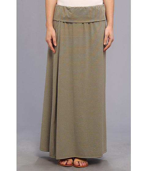 TWO by Vince Camuto - Teeny Stripe Maxi Skirt (Safari Green) Women