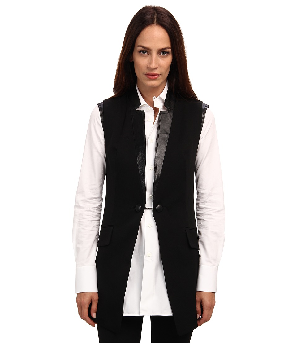 Pierre Balmain - Wool Vest (Black) Women's Vest