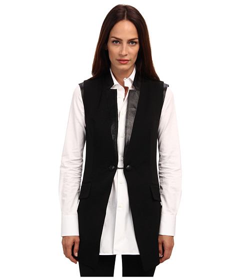 Pierre Balmain - Wool Vest (Black) Women's Vest