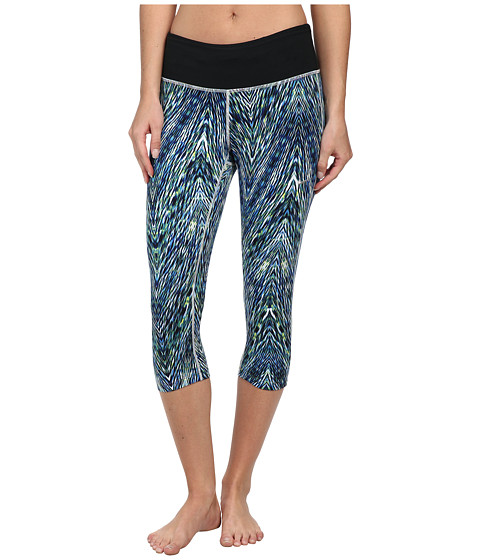 Nike - Epic Run Printed Capri (Multi-Color/Black/Matte Silver) Women