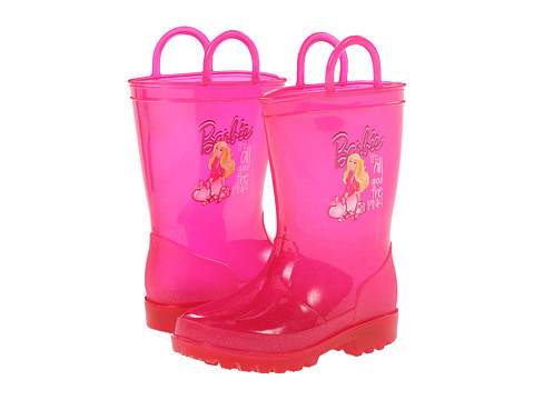 Favorite Characters - Barbie Lighted Rainboot 1BBF502 (Toddler/Little Kid) (Pink) Girls Shoes
