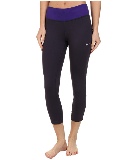 Nike - Dri-Fit Epic Run Crop (Cave Purple/Court Purple/Matte Silver) Women's Capri