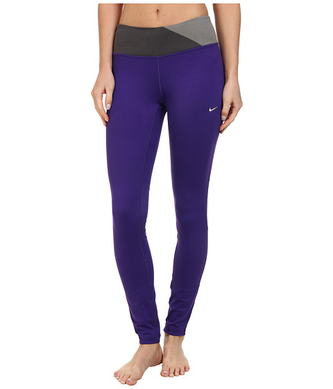 Nike - Dri-Fit Epic Run Tight (Court Purple/Medium Ash/Light Ash/Matte Silver) Women's Clothing