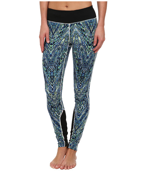 Nike - Dri-Fit Printed Epic Run Tight (Multi-Color/Black/Matte Silver) Women's Clothing