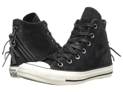 Converse - Chuck Taylor All Star Tri Zip Burnished Zip Hi (Black) Women's Lace up casual Shoes