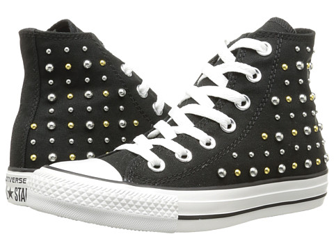 Converse - Chuck Taylor All Star Canvas Studs Hi (Black) Women's Lace up casual Shoes