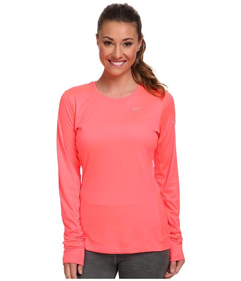 Nike - Miler L/S Top (Hyper Punch/Reflective Silver) Women's Workout