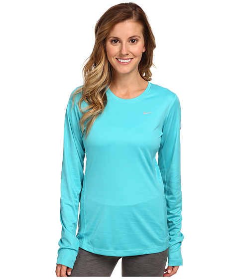 Nike - Miler L/S Top (Dusty Cactus//Reflective Silver) Women's Workout