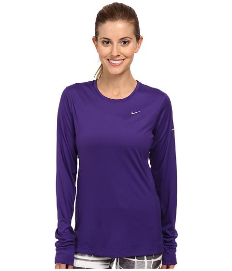 Nike - Miler L/S Top (Court Purple/Reflective Silver) Women's Workout