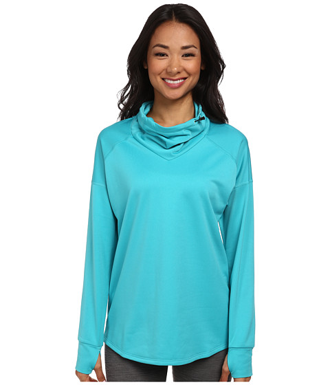 Nike - Relay Midweight L/S Top (Dusty Cactus/Reflective Silver) Women's Long Sleeve Pullover