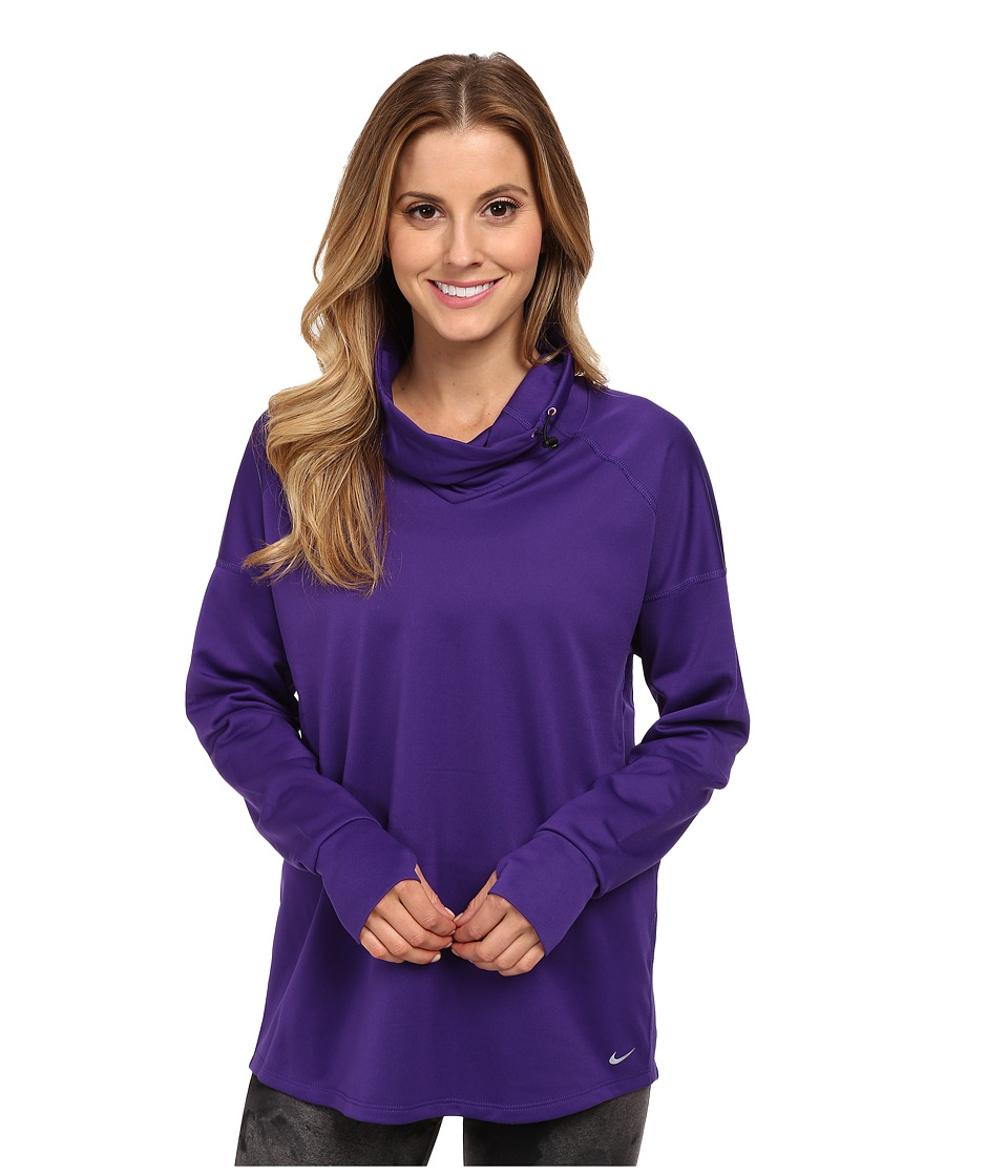 Nike - Relay Midweight L/S Top (Court Purple/Reflective Silver) Women's Long Sleeve Pullover