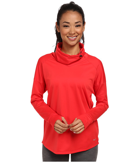 Nike - Relay Midweight L/S Top (Action Red/Reflective Silver) Women