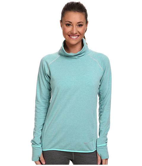 Nike - Dri-Fit Feather Fleece Pullover (Bleached Turquoise/Heather/Reflective Silver) Women