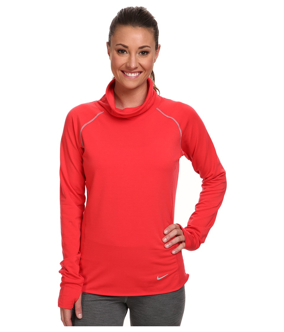Nike - Dri-Fit Feather Fleece Pullover (Action Red/Heather/Reflective Silver) Women