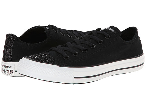 Converse - Chuck Taylor All Star Toecap Sparkle Ox (Black) Women's Lace up casual Shoes