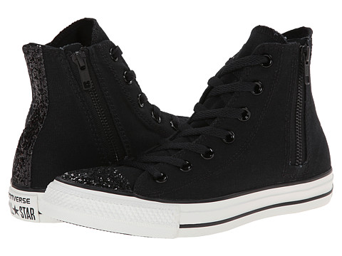 Converse - Chuck Taylor All Star Side Zip Toecap Sparkle Hi (Black) Women