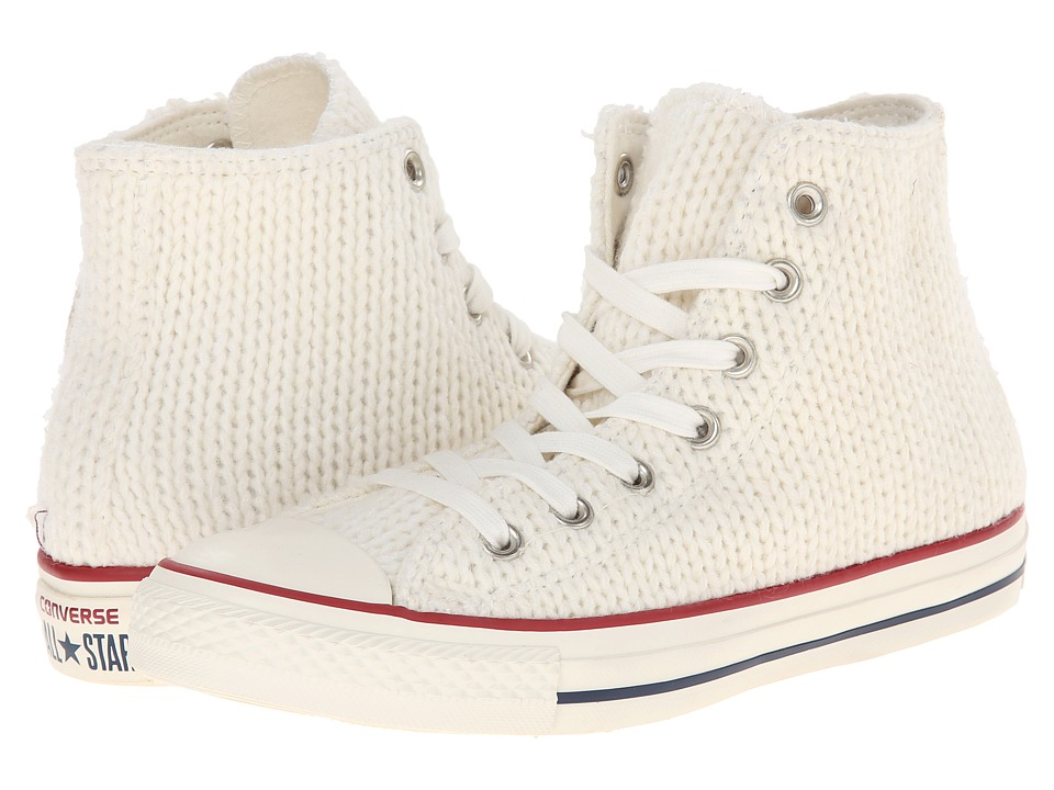 Converse - Chuck Taylor All Star Winter Knit Hi (White/Egret) Women's Lace up casual Shoes