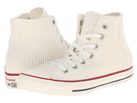 Converse - Chuck Taylor All Star Winter Knit Hi (White/Egret) Women