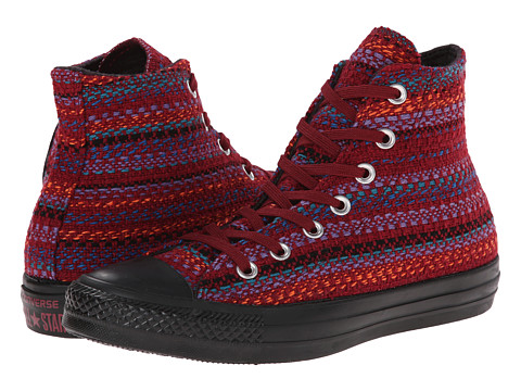 Converse - Chuck Taylor All Star Winter Material Hi (Oxheart/Larkspur/Black) Women's Lace up casual Shoes