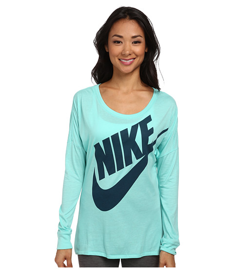 Nike - Signal L/S Tee (Bleached Turquoise/Space Blue) Women's T Shirt