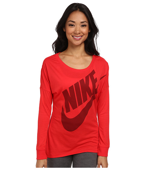 Nike - Signal L/S Tee (Action Red/Team Red) Women